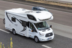 Chausson Camper on the road Royalty Free Stock Photo
