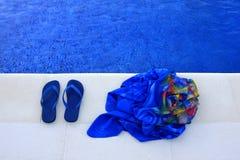 Chaussons bleus Image libre de droits