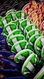 Chaussons colorés Photos libres de droits