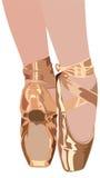Chaussons de ballet Images libres de droits