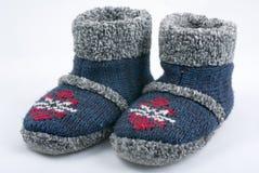 Chaussons de l'hiver photo stock