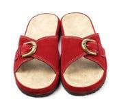 Chaussons rouges Images libres de droits