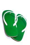 chaussons verts Images libres de droits