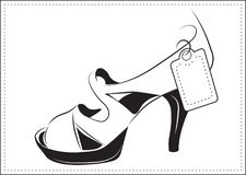 Chaussure élégante, le croquis Image stock