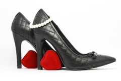 Chaussure élégante noire Photos libres de droits