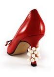 Chaussure avec des perles Photographie stock