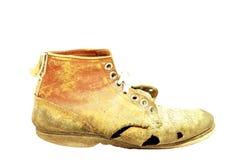 chaussure battue portée Photo stock