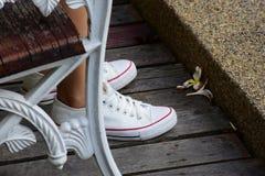 Chaussure blanche Images libres de droits