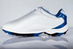 Chaussure blanche et bleue Images libres de droits