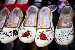 Chaussure chinoise de broderie Photos stock