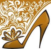 Chaussure d'or Photo libre de droits