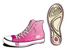 Chaussure d'amour Image libre de droits