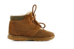 Chaussure d'enfant de chamois Photographie stock libre de droits