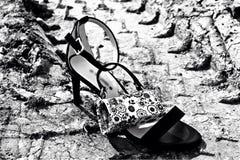Chaussure dans la boue Photo libre de droits