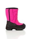 Chaussure de chéri rose de l'hiver Photos stock
