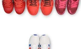 Chaussure de course, espadrille ou entraîneur Photo stock