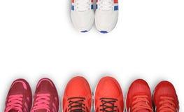 Chaussure de course, espadrille ou entraîneur Photos stock