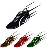 Chaussure de course, illustration de vecteur Images stock