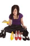 Chaussure de décision Image stock