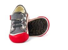 Chaussure de l'espadrille de l'enfant Photos stock