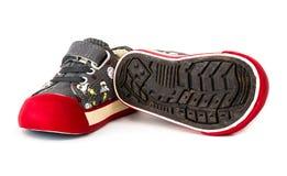 Chaussure de l'espadrille de l'enfant Photo libre de droits