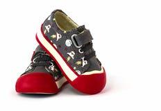 Chaussure de l'espadrille de l'enfant Image libre de droits