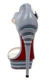 Chaussure de luxe de mode de femme Photographie stock libre de droits