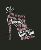 Chaussure de mode de citation Photo libre de droits