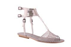 Chaussure de mode de Womans sur le blanc Photographie stock libre de droits