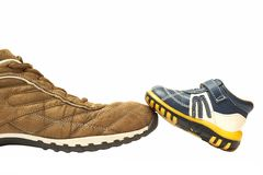 Chaussure de père et chaussure de fils Image libre de droits