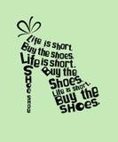 Chaussure des citations Photos libres de droits