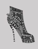 Chaussure des mots Images stock