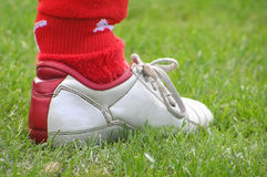 Chaussure du football Image stock