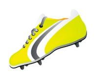Chaussure du football de vecteur Images libres de droits
