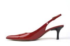 Chaussure du Haut-Talon des femmes rouges Photos libres de droits
