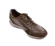 Chaussure en cuir brune occasionnelle d'isolement Images libres de droits