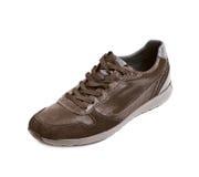 Chaussure en cuir brune occasionnelle d'isolement Image stock