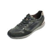 Chaussure en cuir noire occasionnelle d'isolement Image libre de droits