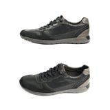 Chaussure en cuir noire occasionnelle d'isolement Image stock
