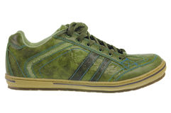 Chaussure en cuir verte Photo libre de droits