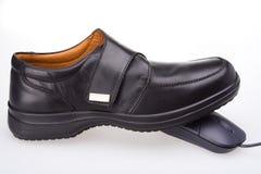 Chaussure et souris Photos libres de droits