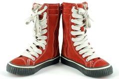 Chaussure grande d'espadrille d'enfant Image stock