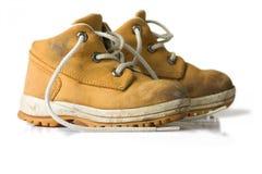 Chaussure jaune d'enfant Image stock