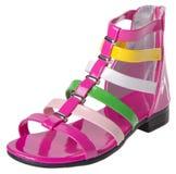 chaussure les chaussures de l'enfant sur un fond Images stock