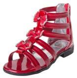 chaussure les chaussures de l'enfant sur un fond Photographie stock libre de droits