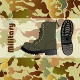 Chaussure militaire Photo libre de droits