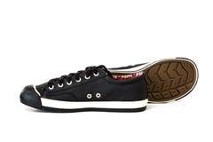 Chaussure noire d'espadrille Images libres de droits