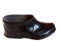 Chaussure noire d'isolement Photographie stock libre de droits