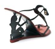 Chaussure noire de hauts talons de mode Image stock