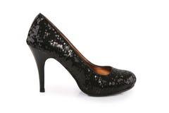 Chaussure noire de stylet Photos libres de droits